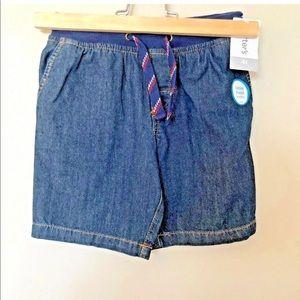 CARTER'S 4T Denim Shorts Adjustable Drawstring NWT